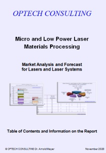Optech Consulting Market Report on Micro and Low Power Laser Materials Processing